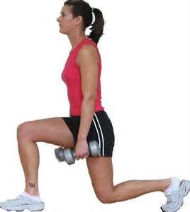 simple effective fat burner lunge