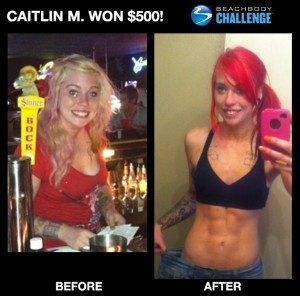 Caitlin lost weight with turbo fire