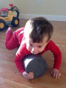 Matthew on foam roll