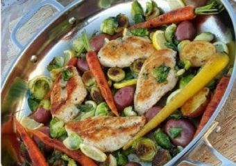 Healthy Recipe: Skillet Chicken & Early Spring Veggies
