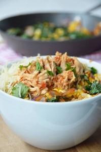 shredded mexican chicken quinoa