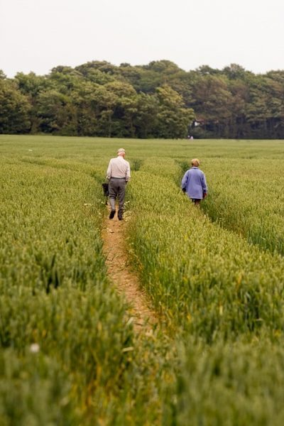 couple exercise walking