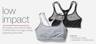 low impact bra