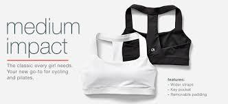 medium impact bra