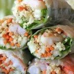 Healthy Recipe: Roasted Shrimp Quinoa Spring Rolls