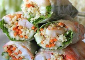 Healthy Recipe: Roasted Shrimp Quinoa Spring Rolls